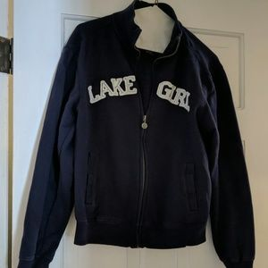 Lake Girl Track Style Zip Up